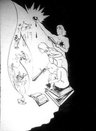 ''Книжные дети''. Автор иллюстрации - Ольга Сидорович